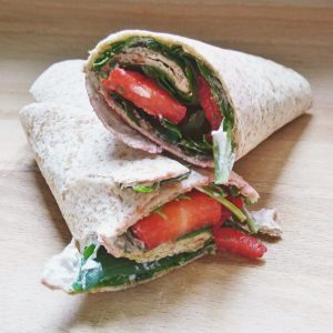 strawberry goat cheese wrap rolled