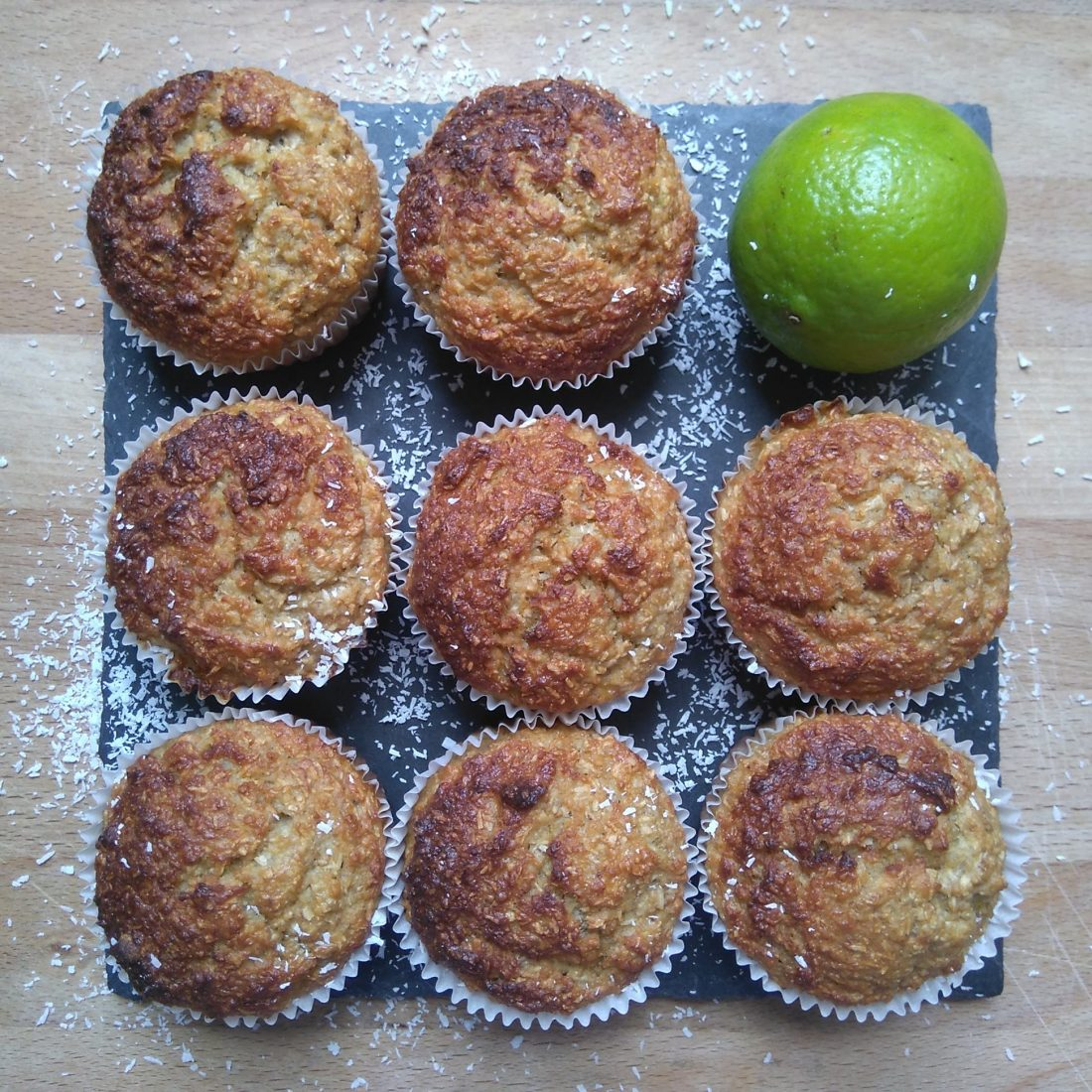 Lime coconut muffins 1
